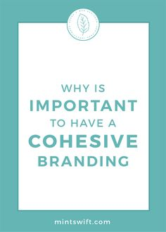 Find out the why is important to have a cohesive branding. See the 4 reasons to have a coherent brand design for your small business Creative Business, Business Tips, Online Business, Visual Identity, Brand Identity, Business Checks, Social Media Graphics, Marketing Materials, Business Branding