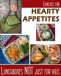 Adult bento lunch box ideas for work, for a man, or your big kids