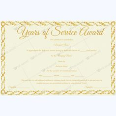 Sample certificate of service template award paper template awards years of service award certificate and template yelopaper Images