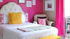 Looking for inspiration to decorate your daughter's room? Check out these Adorable, creative and fun girls' bedroom ideas. room decoration, a baby girl room decor, 5 yr old girl room decor. Big Girl Bedrooms, Little Girl Rooms, Teen Bedroom, Dream Bedroom, Bedroom Decor, Bedroom Ideas, Bedroom Furniture, Bedroom Designs, Pretty Bedroom