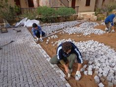 Garage, Stone Path, Outdoor Flooring, Walkway, Pathways, Terrazzo, Future House, Stepping Stones, Yard