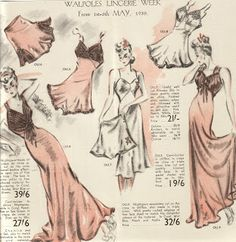 1940's Dressing Gown The Washerwoman: Walpoles Fashions- boudoir lounge night gown