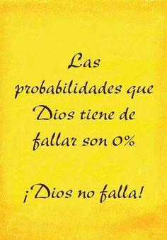¡Dios nunca falla en cumplir Su Palabra! Confía en él y el hará