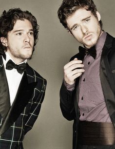 Game of Thrones - Kit Harington & Richard Madden.. Oh my Starks.