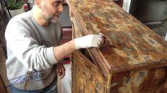 Restauracion estilo vintage o reparación completa de una comoda antigua ...