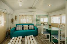 Mobil Homes en alquiler en el camping situado en primera línea de mar, en la Costa Dorada. Cinque Terre, Beach Feet, El Dorado