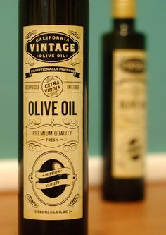 #Bottle #labels #designed for olive oil company based in Davis Ca.
