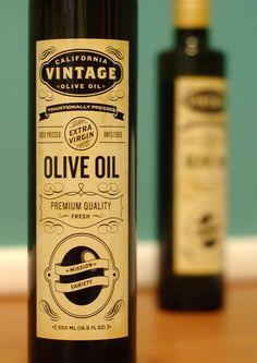 #Bottle #labels #designed for olive oil company based in Davis Ca.