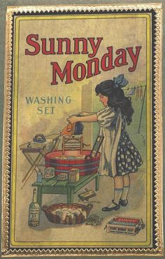 Monday was always washing day once upon a time | Washer Odor? | Sour Smelling Towels? | Stinky Clean Laundry? | http://WasherFan.com | Permanently Eliminate or Prevent Washer & Laundry Odor with Washer Fan™ Breeze™ |#Laundry #WasherOdor
