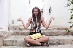 http://www.olivialehti.fi/strictly-style my outfit in altea stripes shirt and black shorts wedge sandals