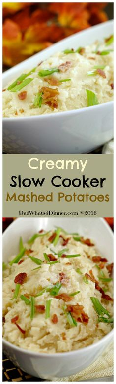 This Thanksgiving you can concentrate on the rest of dinner when you cook these Creamy Slow Cooker Mashed Potatoes in your crock pot.: