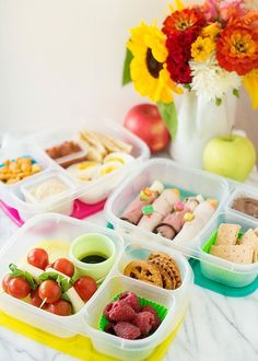 Sandwich Free Lunch Box Ideas and Other Tips | packed in #EasyLunchboxes containers