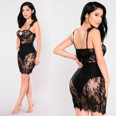 <img> Fancy Lace Dress – Black Source by chavezalmafelipe - Pretty Lingerie, Beautiful Lingerie, Lingerie Seductive Hot, Lace Lingerie, Lingerie Outfits, Women Lingerie, Look Fashion, Fashion Outfits, Lace Dress Black