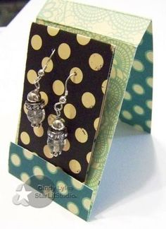 match cover for clever way to gift earrings!