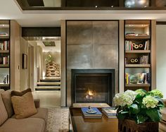 Terry Hunziker family room. Loving the neutral cosyness!