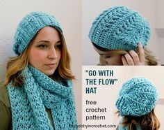 Free Crochet Pattern: Go with the Flow Hat
