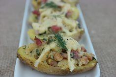 Sunflower - w wolnej chwili...: Pieczone ziemniaczki z boczkiem i serem