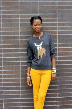 j crew bulldog sweater by Eileen Dautruche, via Flickr