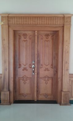 Front Double Door Design Photos In India Home Door Design, Door Gate Design, Wooden Door Design, Front Door Design, Wooden Doors, Design Room, Patio Design, Main Door Design Photos, Double Door Design