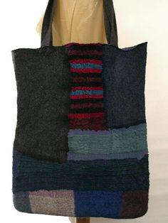 nuno felt large tote bag  FREE SHIPPING WORLDWIDE by gaiagirard, €76.00