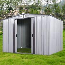 a 6 x 8 outdoor storage shed steel garden utility tool backyard building garage Metal Storage Sheds, Garden Storage Shed, Backyard Storage, Tool Storage, Outdoor Bike Storage, Bicycle Storage, Home Depot Shed, Shed Builders, Raised Bed Garden Design