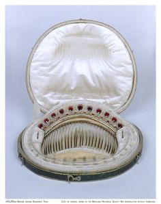 Antique Tiara-Comb of Betsy Patterson Bonaparte, wife of Emperor Napoleon I's youngest brother Jerome Bonaparte, France (ca. 1803; garnets, seed pearls, gold).