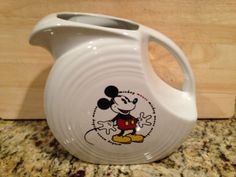 M-I-C-K-E-Y M-O-U-S-E I am super excited to welcome this Mickey Mouse Fiesta pitcher into our collection, definitely a favorite!