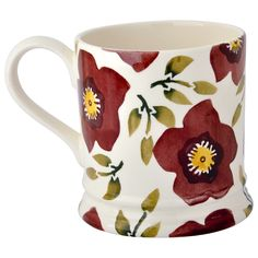 Personalised Christmas Rose 1 Pint Mug (Christmas 2015) Discontinued