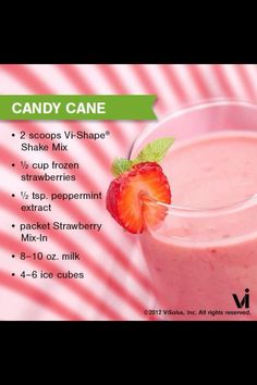Candy Cane Protein Shake - Picture only