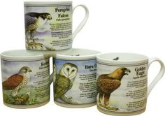 Bisley Nature Watch Mug Set The finest bone china mugs manufactured in Staffordshire the home of the Pottery Industry Our range of china mugs make China Mugs, Mugs Set, Gifts For Family, Bone China, Pottery, Range, Canning, Watch, Tableware