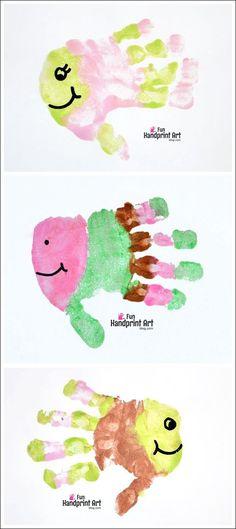 Fun Handprint Art for Kids: Fish Craft with Stripes on Fingers - Preschool Art Project