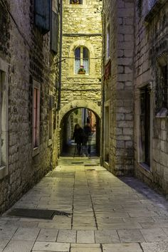 Ghosts of the Old Town - Ghosts in a narrow street of the old town in Split, Croatia