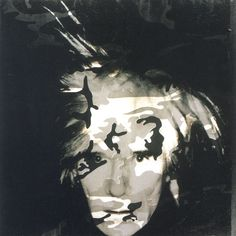 Self Portrait with Camouflage Andy Warhol painting