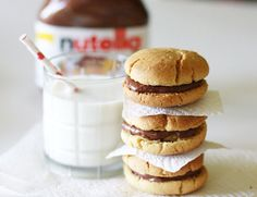 Nutella Sandwich Cookies.
