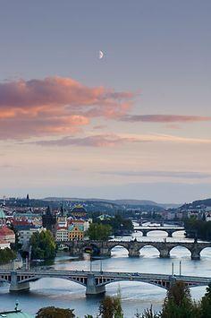 Bridges on the River Vlatava, Prague, Czech Republic