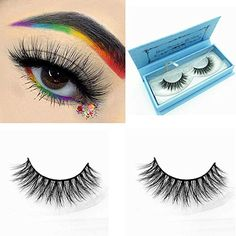 386198c6421 Arimika 3D Long Thick Dramatic Looking Handmade Mink Fur False Eyelashes  For Makeup 1 Pair Pack *** Continue to the product at…
