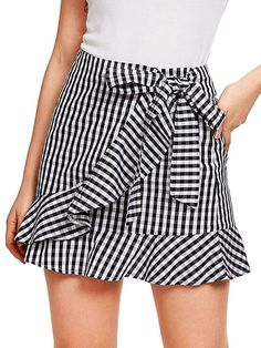 Women S Fashion Cycling Shorts Cute Skirt Outfits, Cute Fall Outfits, Cute Skirts, Girly Outfits, Mini Skirts, Pencil Skirts, Gingham Skirt, Plaid Mini Skirt, Work Fashion