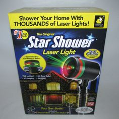 Star Shower Laser Light Christmas Projector Red Green New Box #StarShower