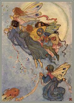 Fairy caravan. Arthur Rackham?