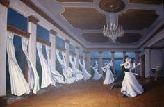 waltzing dancers transform into curtain, illusion - Yahoo Image Search Results