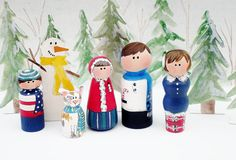 Peg People FamilyMeet the Family Ready for by ThePaintedPine, $30.00