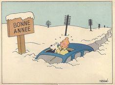 Tintin neige Bonne année
