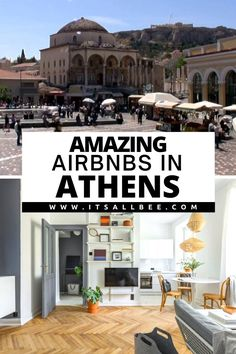 Guide to the best Airbnb in Athens Greece. Stunning Airbnbs with views of Acropolis, near markets on monastiraki and Syntagam Square, close to shopping on Kolonaki and Plaka neighbourhoods. Best Airbnb Athens | Airbnb In Athens | Best Airbnb Greece