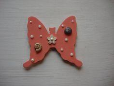 Original Art Butterfly Fridge Magnet Seashells by NovelShell