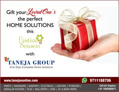 Gift your loved one's the perfect home solutions! Show Now At http://tanejasonline.com/