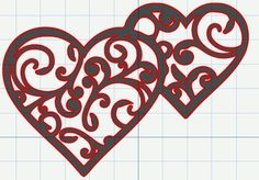FREE SVG File – Filigree Swirly Hearts for Valentine's Day   Miss Vickie's CuttingCrazy Blog