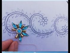 Hand Embroidery Easy Border Design ( Border Design Tutorial) Source by Tambour Embroidery, Hand Embroidery Flowers, Motifs Perler, Towel Crafts, Stone Work, Border Design, Fabric Painting, Bead Art, Design Tutorials
