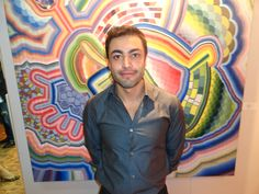 Foto del artista J.R.G. aka Moncho en la Subasta de México Vivo en el Museo de arte Moderno de México