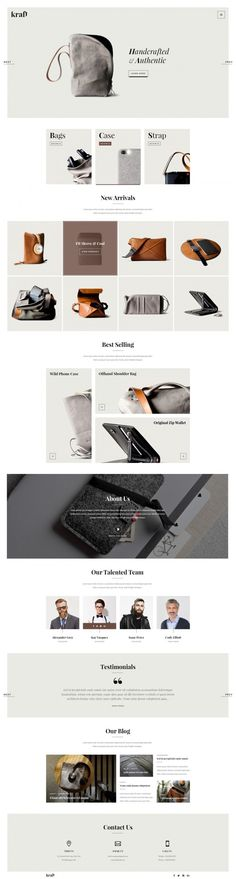 Kraft – Modern Onepage Portfolio in Web design