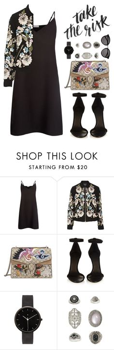 """""""take the risk"""" by mockingjayafire ❤ liked on Polyvore featuring Sandro, Needle & Thread, Gucci, Isabel Marant, I Love Ugly, Topshop, Yves Saint Laurent, women's clothing, women and female"""